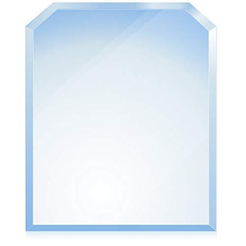 bijon® Funkenschutz-Platte mit Facettenschliff   Glasplatte Kaminofen   Kaminschutz mit ESG Sicherheitsglas   Kamin Glasplatte   Sechseck 120 x 100 cm   8mm