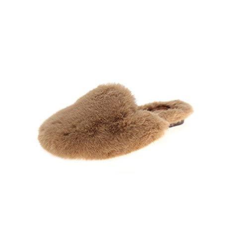 DFJU Slide Flip-Flop, chinelos de Moda Feminina, chinelos para outono e Inverno-cremoso-Branco_38