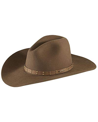 Stetson Men's 4X Seminole Gus Buffalo Felt Cowboy Hat Mink 7 3/4