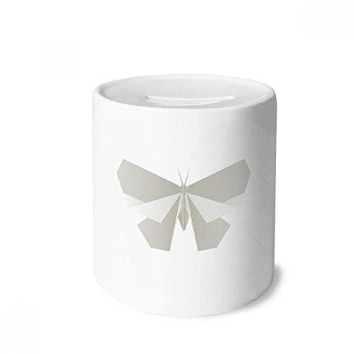DIYthinker Modelo Blanco de la Mariposa de Origami Caja de Dinero de Las Cajas de ahorros de cerámica Adultos Moneda de la Caja para niños