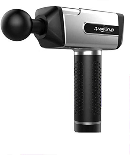 LMZJLU MuskelMassager Handheld-Gewebemassage Gun mit 4 Massageköpfen 20 Silent-Brushless-Motor Faszie Schlagmassagegerät Schmerzlinderung,Silber