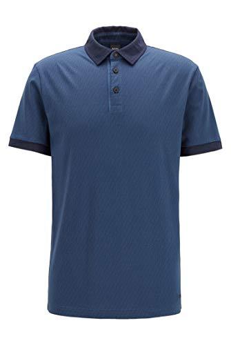 BOSS Herren Pelogo Poloshirt aus Baumwoll-Jersey mit Logo-Print