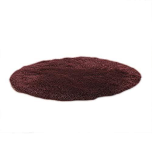 YUnnuopromi - Cuscino per sedia, morbido, forma rotonda, per sedia, divano, tappeto, decorazione per camera da letto 55 cm Rosso vinaccia