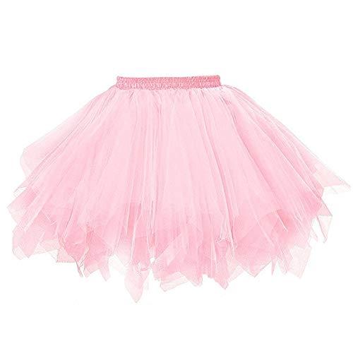 Aiserkly 50er Jahre Retro Tutu Tüllrock Damen Vintage Petticoat Reifröcke Unterrock für Rockabilly Kleid Festliches Kleid Brautkleid Ballkleid Mini Kleid Empire N