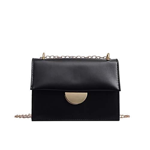 Darringls Borse Donna Borse a Spalla Viaggio Multifunzione in Pu Casual Borsa Transparent Messenger Bag Fashion One-Shoulder Small Square Bag