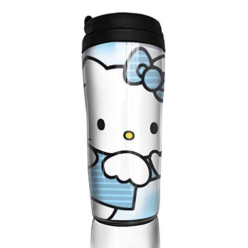 Hello Kitty Cartoon Kaffeetassen Reisebecher Wärmer Becher Tasse, Kunst Kunstflasche Thermoskanne Kaffeetassen mit Deckel 12 Unzen anpassen