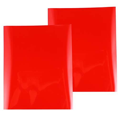 Exceart Transferfolie, Vinyl, zum Aufbügeln, zum Aufbügeln auf Stoffen, Kleidung, Schriftzug, T-Shirts, Heißpresse, Mehrzweck, 2 Stück