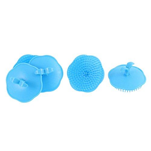 sourcingmap Brosses à cheveux Brosse de Shampooing Cuir chevelu Massage corps Peigne Tête brosse 5 pièces