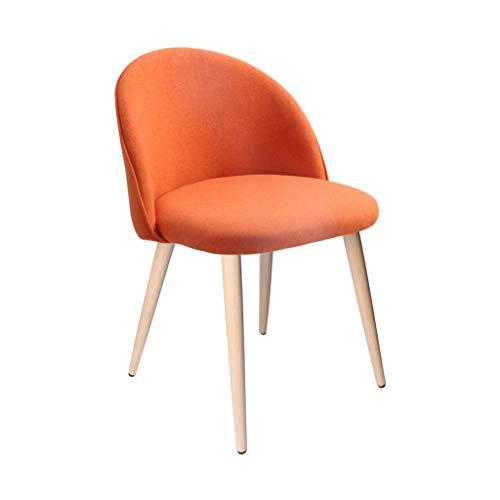 JJZXD Intérieur Armless Loisirs tapissé avec chaises Résistance aux Rayures Pieds obscénités Cuisine Salle à Manger Chambre Salon (Color : Orange)