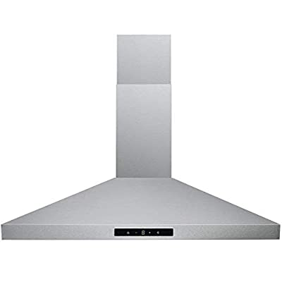 "DKB Range Hood 30"" Inch Wall Mount in Brushed Stainless Steel 