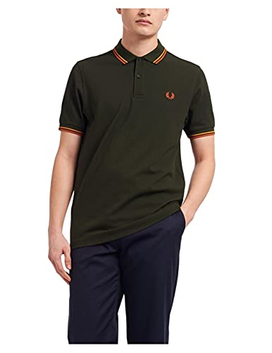 Fred Perry Polo Verde Uomo MOD. FP-M3600-38 XL