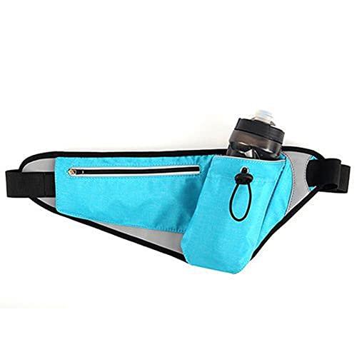CDDSML Ejecución Impermeable Bolsa de Cintura para Correr Deportes al Aire Libre Unisex Teléfono Jogging Kettle Belt Pack Mujeres Hombres Hombres Fanny Botella de Agua Botella de Gimnasio