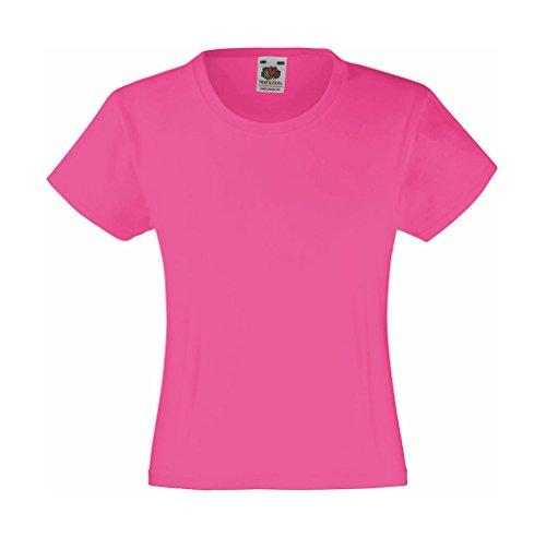 Mädchen T-Shirt Girls Kinder Shirt - Shirtarena Bündel 116,Fuchsia