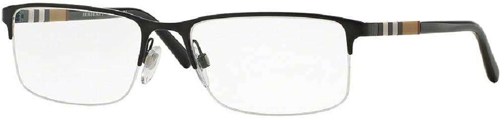 Burberry BE1282 Rectangle Eyeglasses For Men For Women +FREE Complimentary Eyewear Care Kit