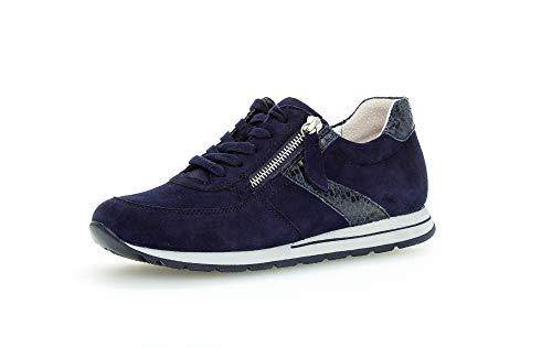 Gabor Damen Sneaker, Frauen Low-Top Sneaker,Comfort-Mehrweite,Optifit- Wechselfußbett, Woman Freizeit leger Halbschuh,Bluette/Blue,40 EU / 6.5 UK