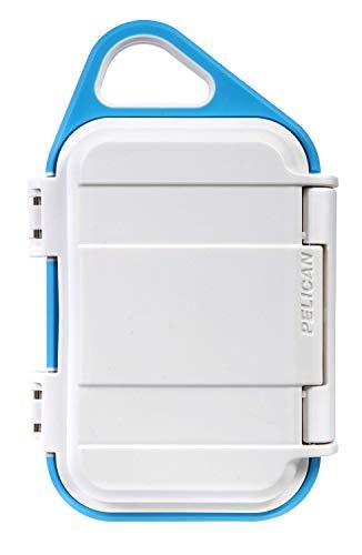 Pelican Go G10 Case - Waterproof Case (White/Aqua)