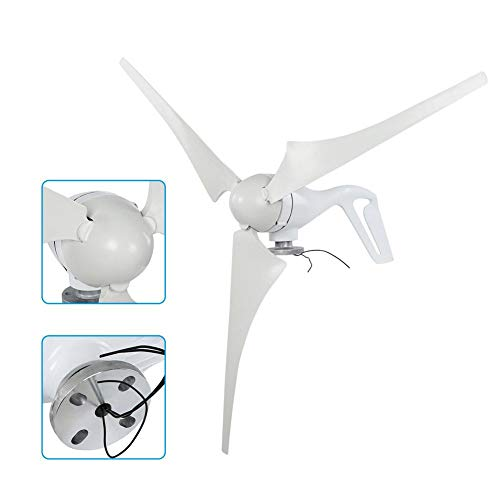 Boquite Windgenerator, NE-400S3 400W Nylonfaser Flügel 3PCS 630mm Windkraftanlage Generator 24V Power Windmühle