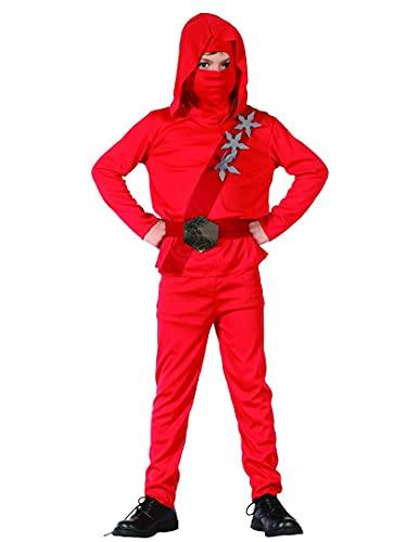 DEGUISE TOI Déguisement Ninja Rouge étoiles garçon - S 4-6 Ans (110-120 cm)