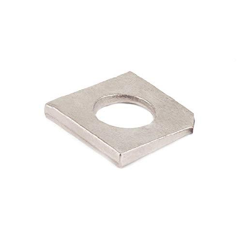 Quadratische Schrägdichtung aus Edelstahl 304, Unterlegscheibe für schlechten Stahl, Flachdichtung aus I-förmigem Stahl, gekerbte Dichtung, M20 (3er-Pack)