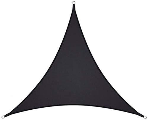 SYCEZHIJIA sombreado Triangular Navegación 98% Anti Coche Refugio Pérgola para Patio al Aire Libre Jardín Terera Terraza y Camping Lienzo Negro Sombreado 4.5x4.5x4.5m-2x2x2m_Negro_ 0413
