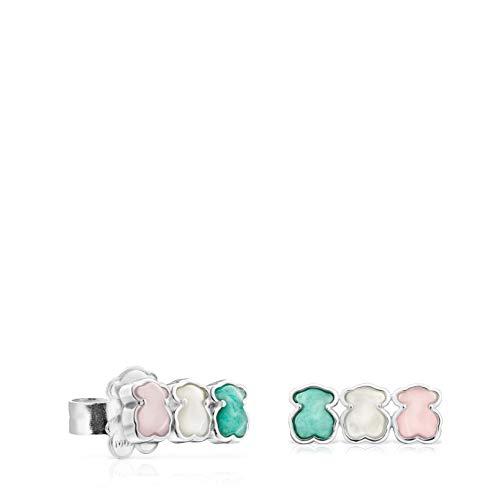 Pendientes Mini Color de plata con tres osos (915433650)