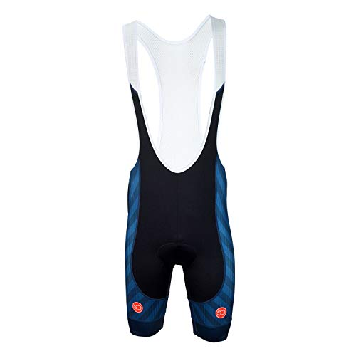 Sundried Mens Pro Collection Bib Shorts Padded Fietsbroek Racefiets Zomerfiets Kleding