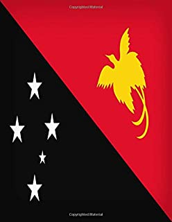 Papua New Guinea: Notebook Journal | Papua New Guinea Flag | A4 , College Ruled Notebook Gifts For Tok Pisin Language Lear...