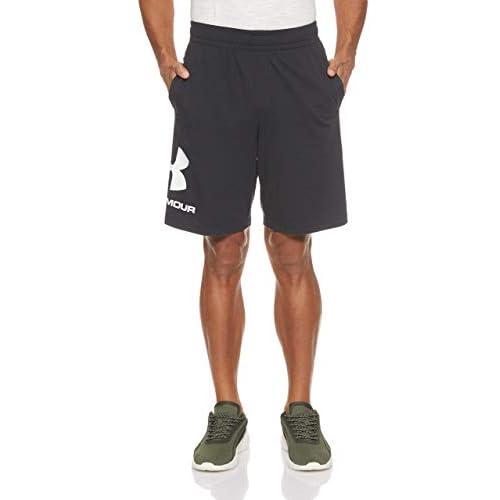 Under Armour Sportstyle Cotton Logo Shorts, Pantaloncini Uomo, Nero (Black/White 001), M
