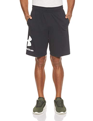 Under Armour Sportstyle Cotton Logo Shorts, Pantaloncini Uomo, Nero (Black/White 001), M