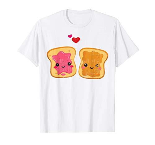 かわいいゼリートーストカップル Tシャツ