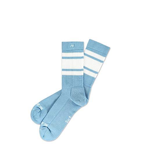 Spirit of 76 Herren & Damen Retro Socken mit Streifen (35-38, Blau - Weiß)