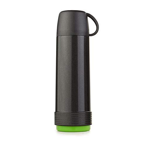 Valira 6112/128 Termo para liquidos de 1 L Hecho en Espana, Color Negro-Verde