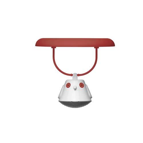 QDO 567608 Couvercle Infuser à thé Birdie Plastique Rouge/Transparent 9 x 10 x 10 cm