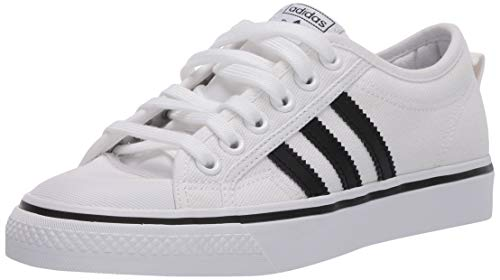 adidas Originals Men's Nizza Sneaker, FTWR White/core Black/FTWR White, 10.5 M US