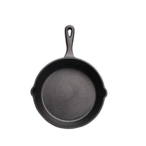 IUYJVR 14/16/20 cm sartén de Hierro Fundido sartén pequeña Mini sartén Antiadherente sin Revestimiento sartén para panqueques de Huevo Cocina de inducción Estufa de Gas sartenes universales (Color: