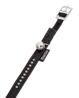 Karlie 67680 Art Leather Plus Katzenhalsband Monte Carlo L: 30 cm B: 11 mm XS schwarz