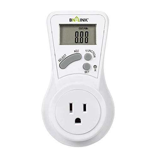 BN-LINK LCD Plug in Power Energy Meter Voltage Amps...