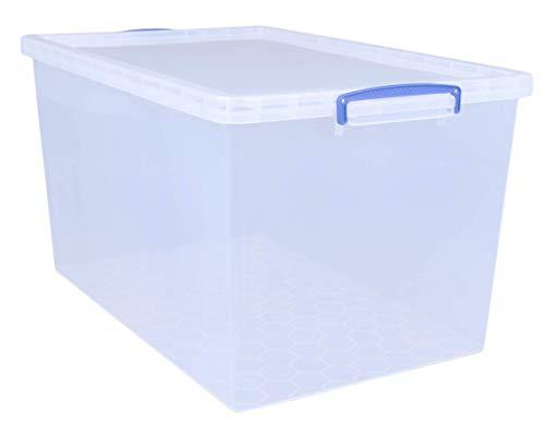 Aufbewahrungskiste, stapelbar, durchsichtig, Kunststoff, transparent, 83 Litre Nestable Clear Pack of 3 in Card
