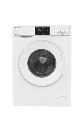 Sharp ES-HFB7143W3-DE Waschmaschine Frontlader / A+++ / 7 kg / 1400 U/min. / 15 Programme / 15 Min. Kurzprogramm / AllergySmart / Startzeitvorwahl 23 Stunden / AquaStop / Kindersicherung