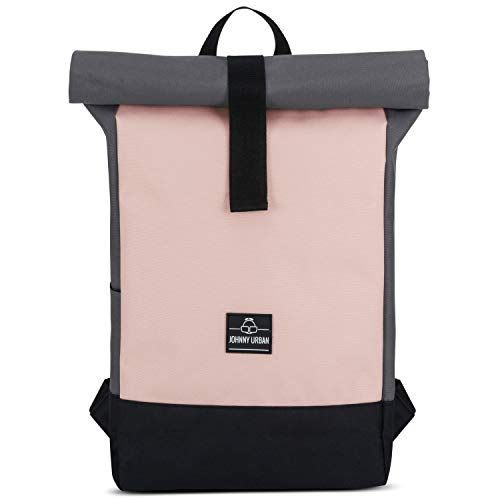 Roll Top Backpack Women Pink - Johnny Urban Ryan from Recycled PET...
