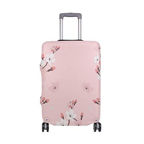 Funda protectora para equipaje de viaje, color rosa, cerezo, flor, maleta, funda de...