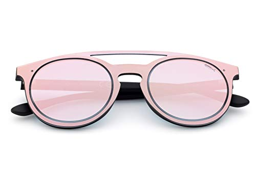 Saraghina Eyewear - Gafas de sol unisex de nailon ultraligero, color negro y dorado