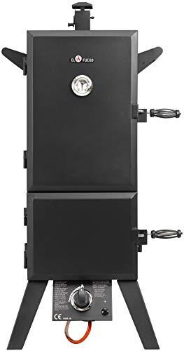 Gasgrill Portland XL von EL Fuego® Smoker Grill Grillwagen BBQ, 4,4 kW leistungsstark, mit Thermometer, große Garkammer, AY 3172