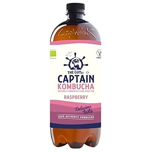 Captain Kombucha Raspberry, Té de Burbuja - 1000 ml