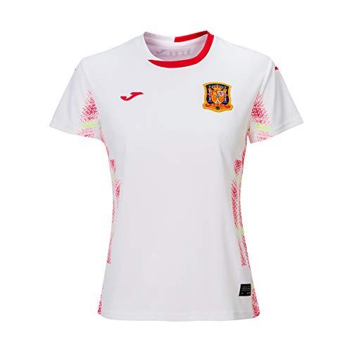 Joma España Fútbol Sala Femenino Segunda Equipación 2020 Mujer, Camiseta, Blanco, Talla M