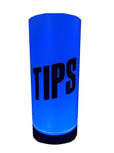tip jar, light up, color changing, built in controller, plug in