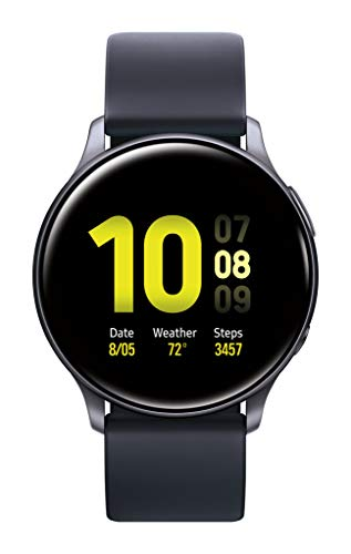 Samsung Galaxy Watch Active 2 (40mm, GPS, Bluetooth) Smart Watch with Advanced Health monitoring, Fitness Tracking , and Long lasting Battery, Aqua Black (US Version)