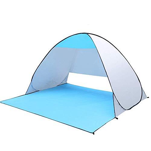 FGDSA Carpa Carpa De Playa Super Sombrilla De Playa Toldo Al Aire Libre Cabina Emergente Automático UPF 50+ Sombrilla Portátil Camping para Pesca con Mochila (Color: Rosa)