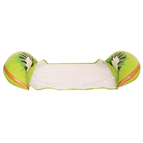 Gcxzb Schwimmreifen Schwimmendes Bett Wasser Hängematte Recliner aufblasbare schwimmende Schwimmmatratze Meer Schwimmen Ring Pool Lounge Bett zum Schwimmen aufblasbar (Farbe: 03)