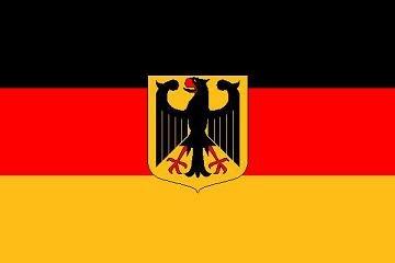 Fahne DEUTSCHLAND MIT WAPPEN ADLER Flagge, Grösse: ca. 90x150 cm